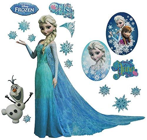 XL Set: Wandtattoo / Wandsticker - Disney die Eiskönigin - Aufkleber Wandaufkleber für Mädchen - völlig unverfroren Elsa Ardenelle / Poster - Postersticker - Frozen - Prinzessin Olaf
