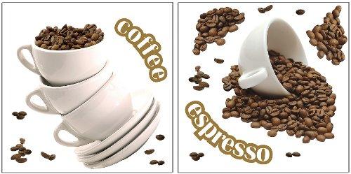 Wandsticker Kaffee / Dekorfolien -Kaffee
