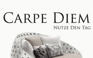 W33 (141x27cm) schwarz - Carpe Diem - Wandtattoo Sprüche Zitate Wandaufkleber