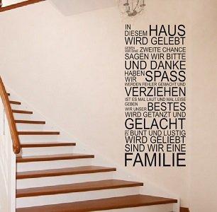 Wandtattoo XXL In diesem Haus.. Deko, Flur, Wohnzimmer 120x59cm + Testmotiv GRATIS dazu! TOP!