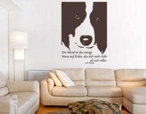 Wandtattoo Der Hund ist das einzigste Wesen... ( Größe: 85cm x 117cm - Farbe: schwarz ) Motiv-Nr: 2314