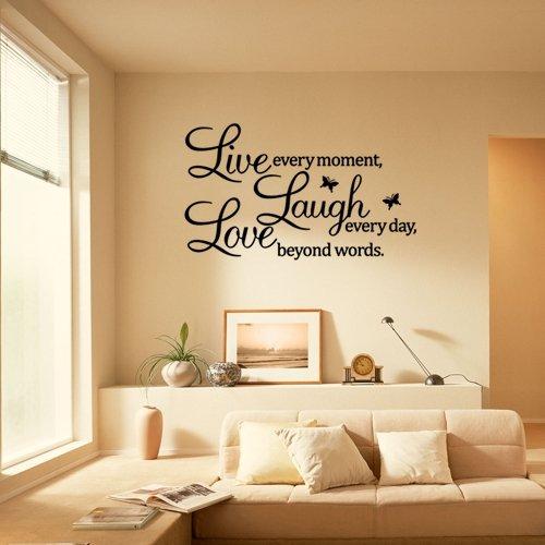wandsticker leben lachen liebe g nstige wandtattoos online kaufen. Black Bedroom Furniture Sets. Home Design Ideas