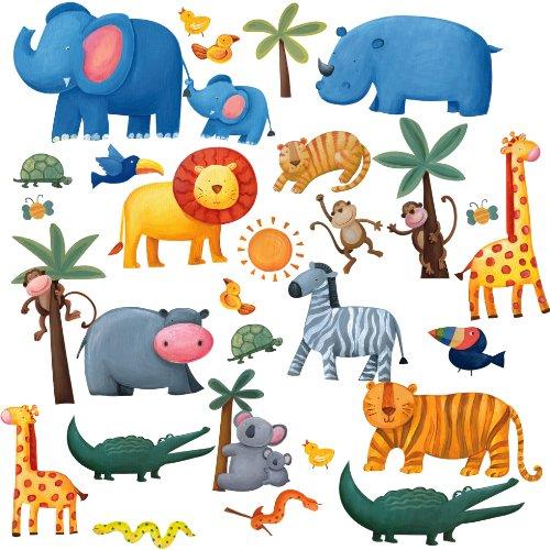 Kinderzimmer Wandsticker Dschungeltiere