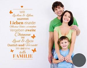 Wandtattoo Spruch Familie