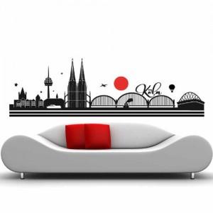 Skyline Köln - 190 x 60cm - Farbe: Schwarz