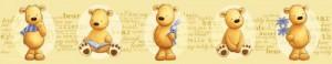 DECOFUN 42601 - Mein Teddybär, Tapetenbordüre