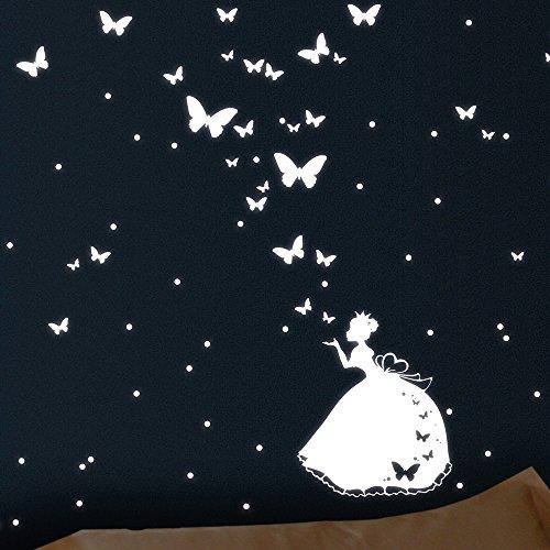 Wandtattoo Loft - Prinzessin mit Leuchtpunkten