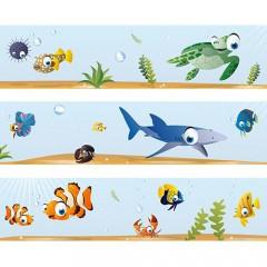 Kinderzimmer Bordüre mit den Fischen