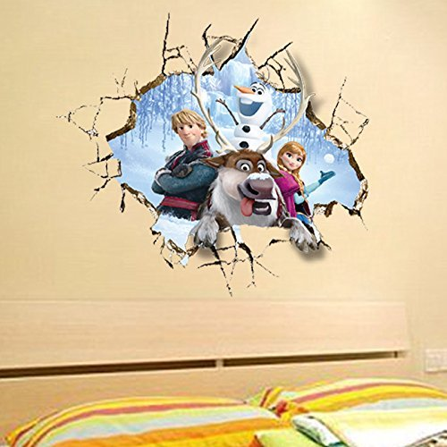 Clest F&H Frozen Queen Elsa ZY1421 Gefrorene Wandtattoos Wandsticker DIY Family Fashion Decoration Sticker