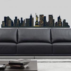 Wandsticker New York skyline