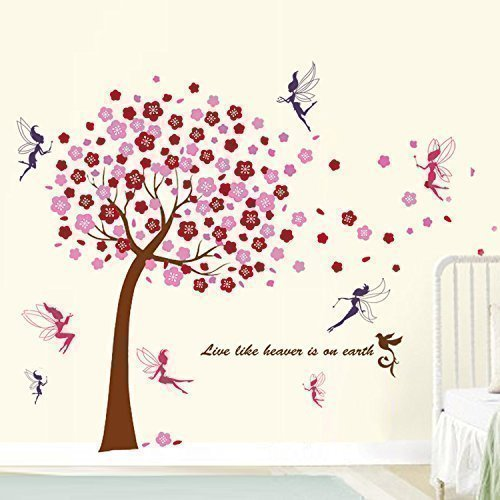 Wandsticker Baum mit Feen