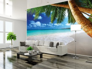 fototapete strand und meer palmen wandtapete bis 336 x 238 cm. Black Bedroom Furniture Sets. Home Design Ideas