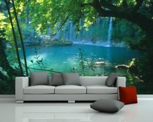 selbstklebende Fototapete Wasserfall
