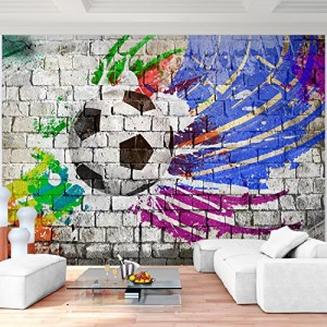Graffiti Tapete Fussball
