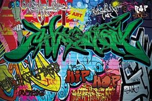 Graffiti Tapete Jugendzimmer